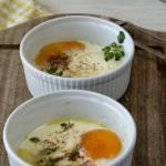 Jajka z łososiem w kokilkach