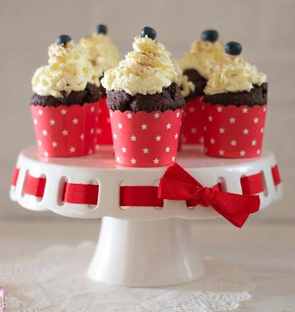 Muffiny czekoladowe z kremem mascarpone