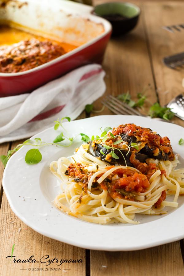 Zapiekanka-pomidorowo-bakłażanowa
