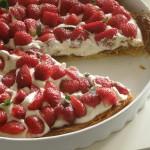 Tarta z truskawkami i kremem mascarpone