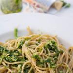 Spaghetthi z pesto z rukoli