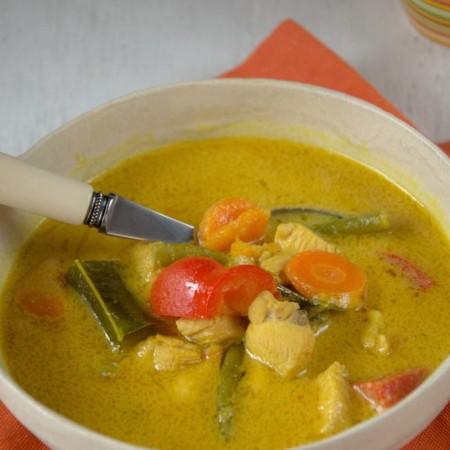 Yellow Curry z dynią i kurczakiem