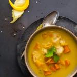 Żółte curry z dorszem i dynią. Z cyklu 3 kolory curry
