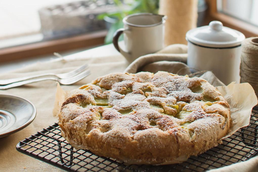szybkie-ciasto-rabarbarowe