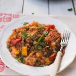 Zapiekanka z mielonym mięsem i jesiennymi warzywami