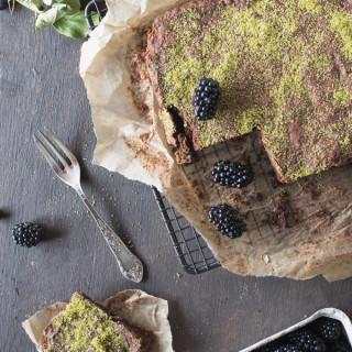 Ciasto zwane Leśne Runo (z mąki dyniowej). I sesja też leśna.